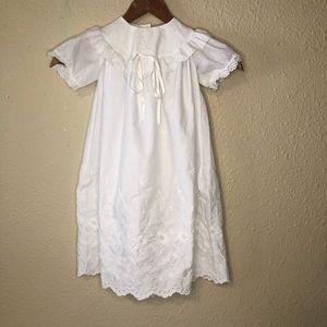 Alexis Christening Gown 12 Months White